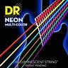 DR NMCA-12 Neon Multi-Color Acoustic Guitar Strings 12-54 multi color