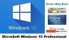 Microsoft Windows 10 Pro Professional  License Key 32/64 Bit License COA Sticker