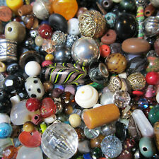 10oz Bag of Loose Beads(600) Vintage/Current Crystals Stone Glass Metal Acrylic