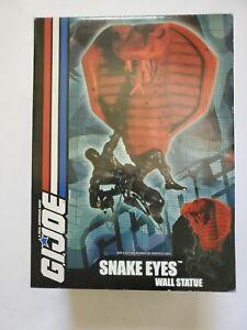 Diamond Select Snake Eyes GI Joe Wall Statue Display 216/2500 Low Number
