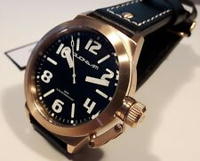 MEN'S WATCH QUONDAM,MODEL U-BOAT,DIVER 200 Mt,LEATHER STRAP,ROSE GOLD,44 mm