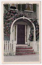 NANTUCKET Island MASSACHUSETTS PC Postcard GUNTHEN HOUSE DOORWAY Academy Lane