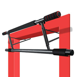 Gym Workout Exercise Door Doorway Pull Chin Up Bar Iron Load 150KG AUS