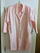 Vint. 1980's Mary Kay Consultant Pink Makeup Coat Lab Jacket Retro Smock - Large