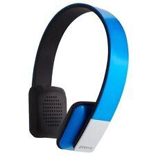 Écouteurs bleus microphone bluetooth sans fil
