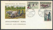 Senegal #250-2 1965 Development Rural 3v FDC