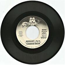 "TANGERINE DREAM ~ MONOLIGHT-PART II (STEREO ) /(MONO) 1977 VIRGIN RECS 7"" PROMO"