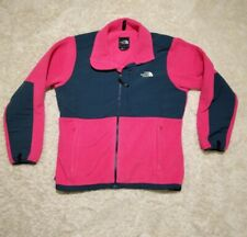 The North Face Hot Pink Grey Woman's XL Fleece Zip Up Jacket