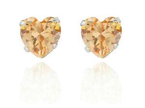 Sterling Silver Heart Shape Morganite 1.24ct Stud Earrings (925)