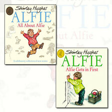 Shirley Hughes Collection 2 Books Set NEW All About Alfie,Alfie Gets in First PB