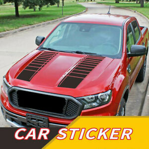2Pc Hood Decals Stickers Graphics Stripes Car Truck Accessories DIY Decoration