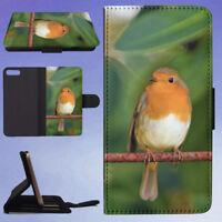 NATURE BIRD RED ANIMAL FLIP WALLET CASE FOR APPLE IPHONE PHONES