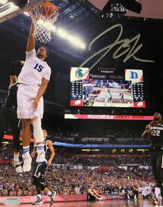 Jahlil Okafor signed 2015 Final Four Duke Blue Devils 8x10 Photo- Schwartz