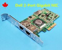 Dell Broadcom 2 Dual Port Gigabit 1GB PCIe NIC Network Card Adapter F169G G218C
