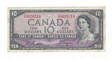 **1954 Devil's Face**Canada $10 Note, Beattie/Coyne BC-32b, Ser# ID 8626314