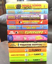 Set 11 HB Middle School and I Funny Series James Patterson Treasure Hunters L1
