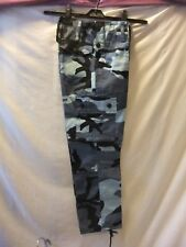 "GENTS NWT 26"" waist MULTI BLUES COTTON/CLASSIC CAMOUFLAGE PRINT COMBAT TROUSERS"