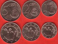 Cyprus euro set (3 coins): 1, 2, 5 cents 2016 UNC