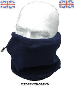 Snood Face Mask Fleece Neck Warmer Adjustable Walking Biking Riding