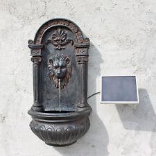 Solar Springbrunnen CLGarden NSP8 Wand Brunnen Wandbrunnen Löwenbrunnen