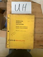 New Holland Model TR75 and TR85 Combine Service Parts Catalog Manual OEM