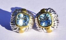 Judith Ripka Topaz Gold Sterling Silver Earrings 18k