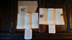 1820 VELLUM MANUSCRIPTS ORDINATION BISHOP OF NORWICH OF REV. CHRISTOPHER THURGAR