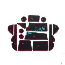 For Toyota Rav4 2016-2018 Inner Accessories Door Mats Gate Slot Mat Cup Pads Red
