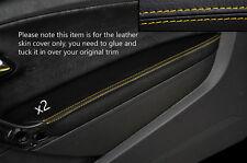 Yellow Stitch 2x Porta BRACCIOLO PELLE COPERTURA Adatta per VW Polo MK8 09-15 3 PORTE