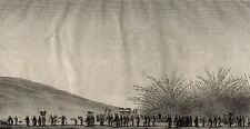 Procession Mortuaire morts Chine China - De Guignes Gravure originale 19e