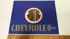 1938 CHEVROLET - Original Colour Catalog Brochure - Excellent Condition - CDN