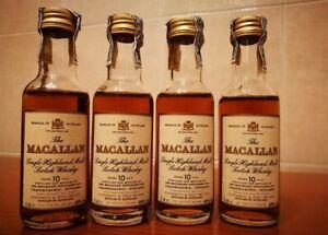 4 Macallan 10 Y  5 cl. 40°