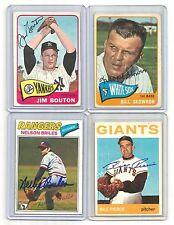 1965 TOPPS auto/SIGNED set/CARD #30 jim BOUTON ny YANKEES baseball TEAM '65