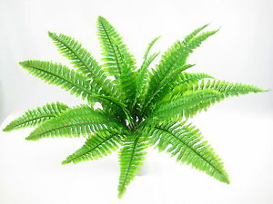 12x, 48cm Artificial Silk Boston Fern Plant for Conservatory Office Decoration