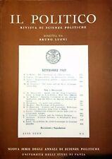 IL POLITICO RIVISTA DI SCIENZE POLITICHE ANNO XXXII N° 2 SETTEMBRE 1967
