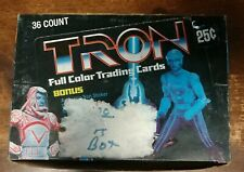 Tron 1982 Donruss Trading Cards Box 36 Sealed Wax Packs Jeff Bridges Movie