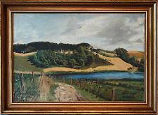 RURAL LANDSCAPE PAINTING ~ DENMARK ~ LISTED ARTIST WILLER JORGENSEN ~ dtd. 1939