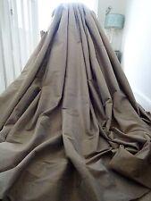 Cortinas opulento 100% Seda Contemporáneo Chic tonal Seta/Taupe * Enorme * Wow!