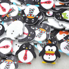 50Pc Wholesale DIY Accessories Wood Baby Kid's Penguin Sewing Craft WB317