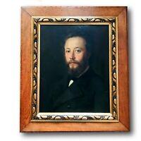 Portrait Homme -  Huile sur Toile XIXéme - Ecole Française - 70cm x 60cm