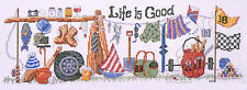 Cross Stitch Kit Design Works Life is Good Sports & Fun Sampler DW2301 OOP SALE!