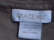 GRACE HILL SweetheartNecklineBeigeStretchSz14EUC
