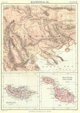 La macedonia MALTA MADEIRA. MALTESE Islands Gozo. Britannica 9th EDIZIONE 1898 Mappa