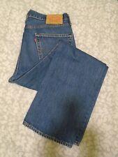 "W34 L30 LEVIS 751 Mens Jeans Blue Denim Straight Leg Zip SIZE Waist 34"" Leg 30"""