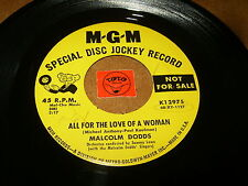 MALCOLM DODDS - ALL FOR THE LOVE OF A WOMAN - COME OH  - LISTEN - RNB POPCORN