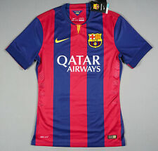 FC BARCELONA 2014/15 M Home Player Issue Jersey Shirt Brand New 605328-422 BNWT