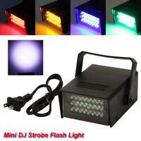 2 x Mini DJ Strobe Halloween Flash Light 24 LED Club Stage Lighting Party Disco