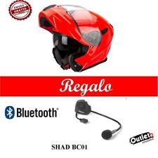 CASCO ABATIBLE SCORPION EXO-920 SOLID NEON RED+BLUETTOOTH GRATIS ROJO Talla L