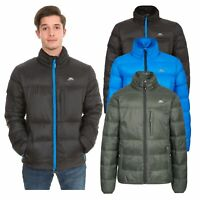 Trespass Bismarck Mens Padded Jacket in Black Blue & Olive