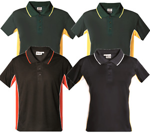 New Mens Polo Shirt Sports T-Shirt Breathable Gym Casual Wear Wicking Top Sport